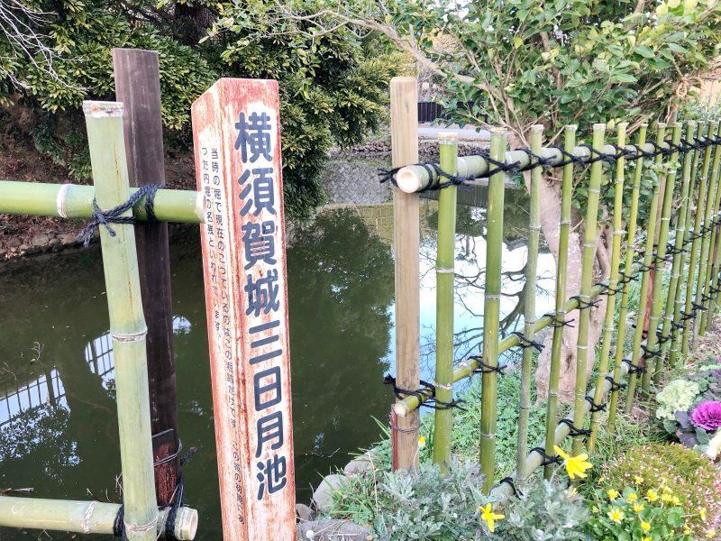 横須賀城の三日月池