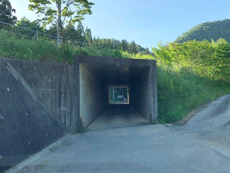 桔梗塚への道