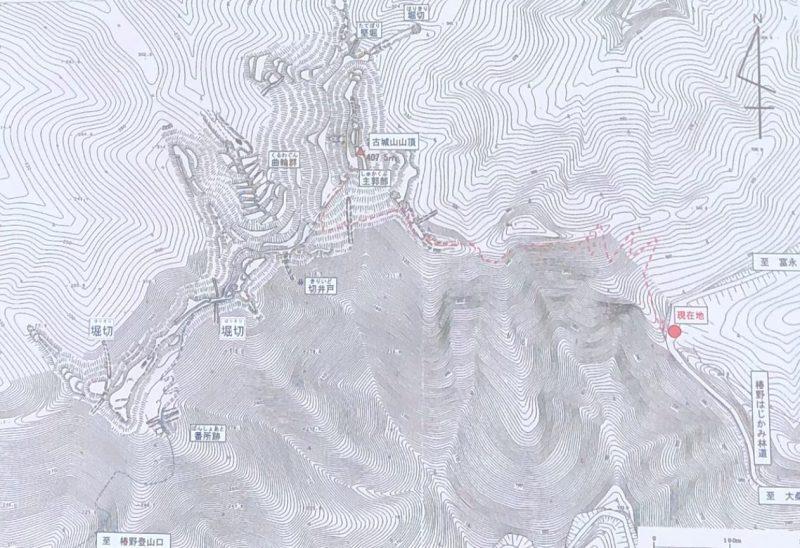 古城山地図