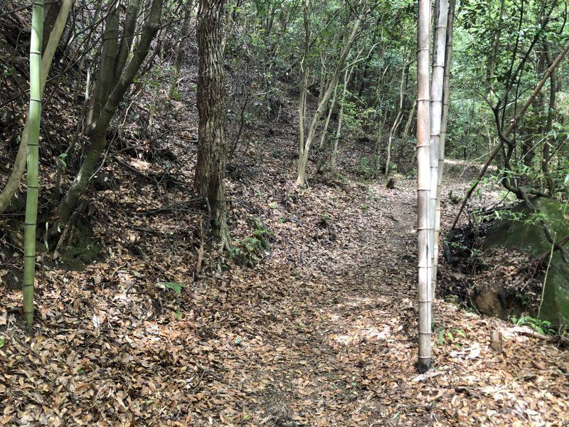 妻木城跡登山道