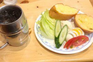 コメダ珈琲のサラダバゲット