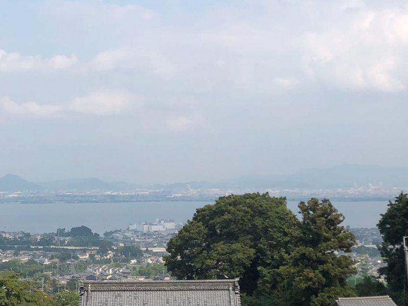 西教寺から見える琵琶湖