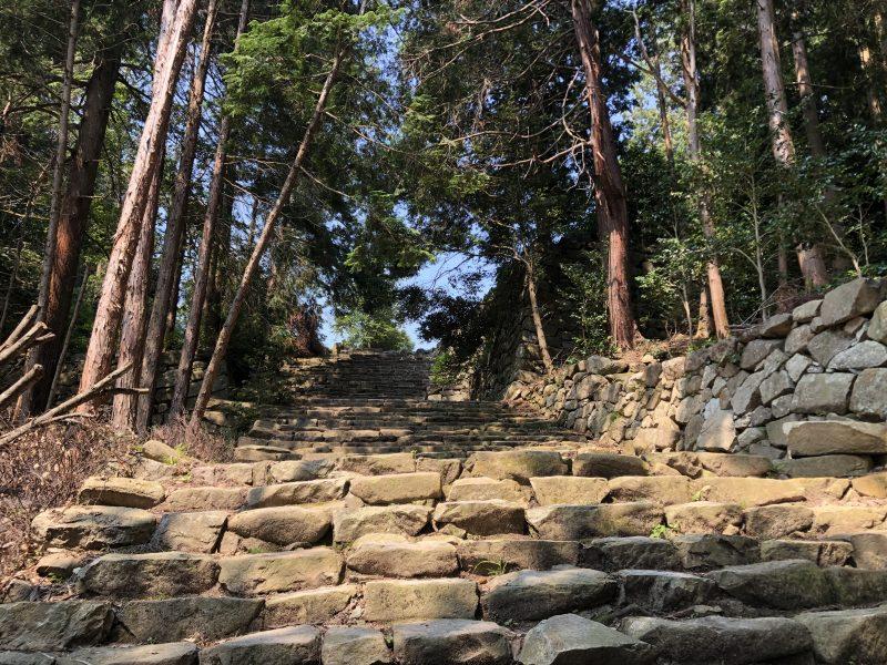 摠見寺本堂跡への石段