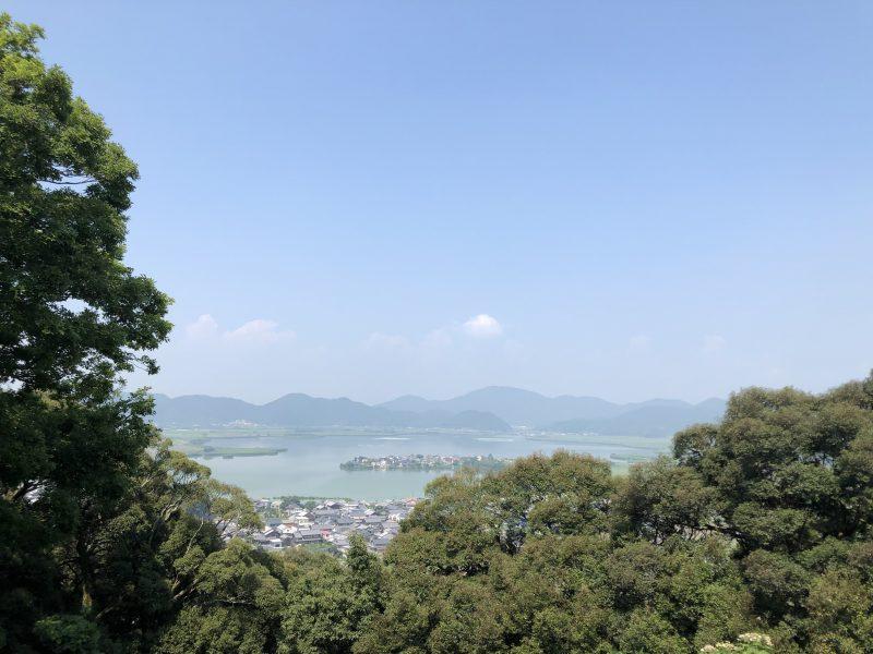 摠見寺本堂跡からの景色