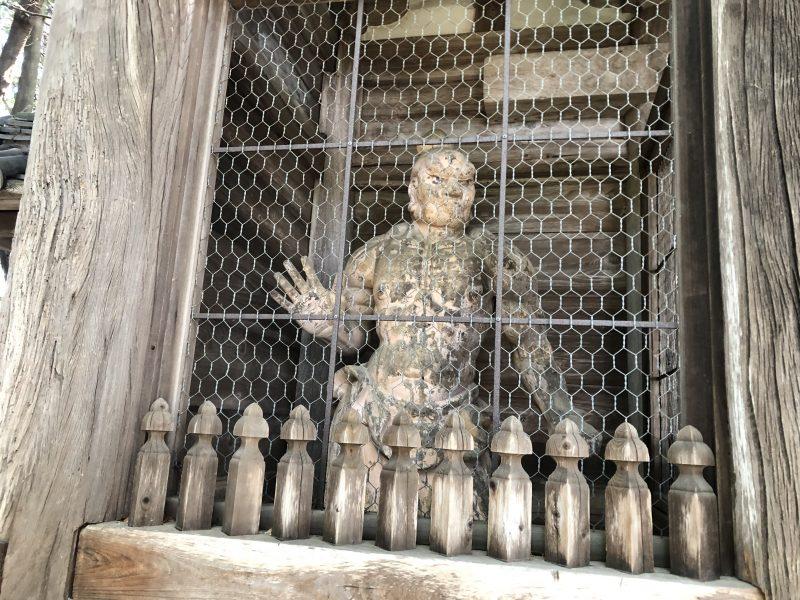 摠見寺・二王門の金剛力士像