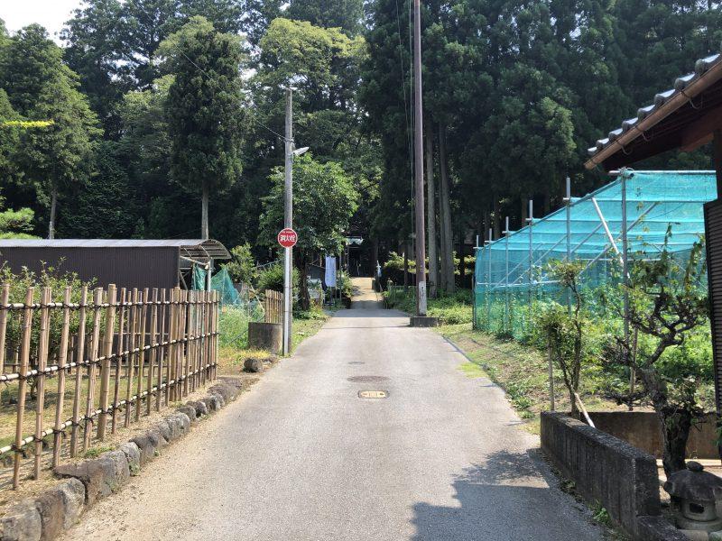 十二相神社への道