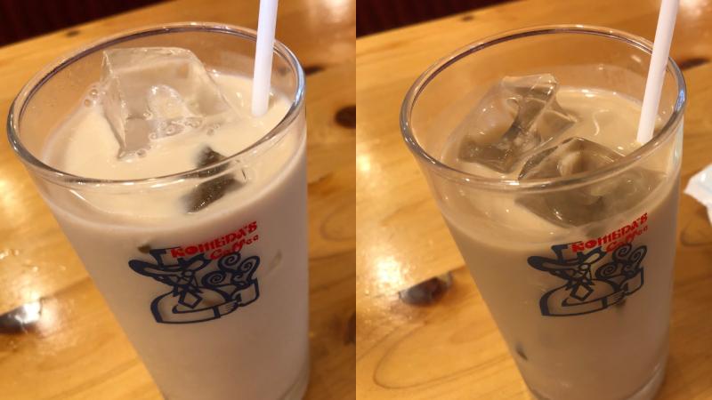 アイスミルクコーヒーとアイスオーレの比較