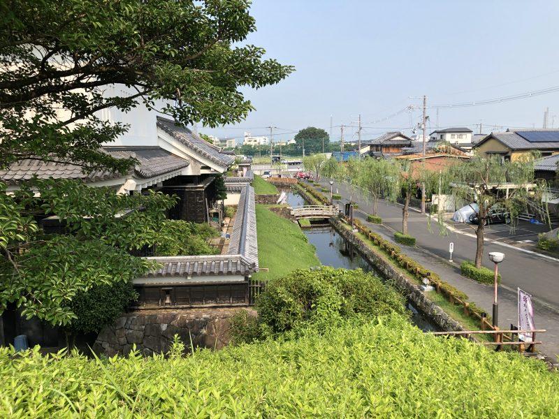 勝竜寺城本丸西辺の土塁