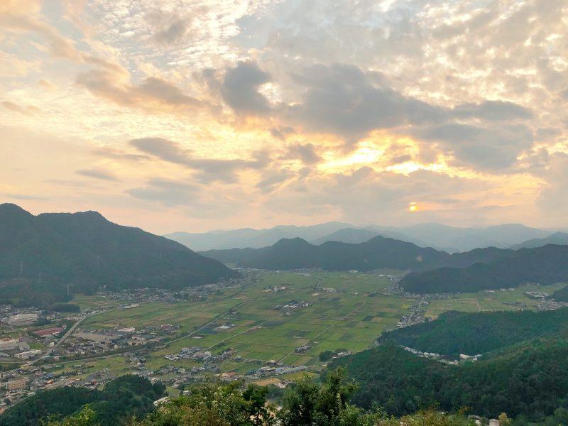 黒井城・本丸から見る景色