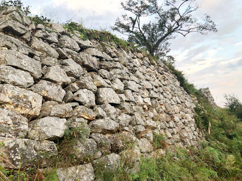 黒井城・二の丸跡の石垣