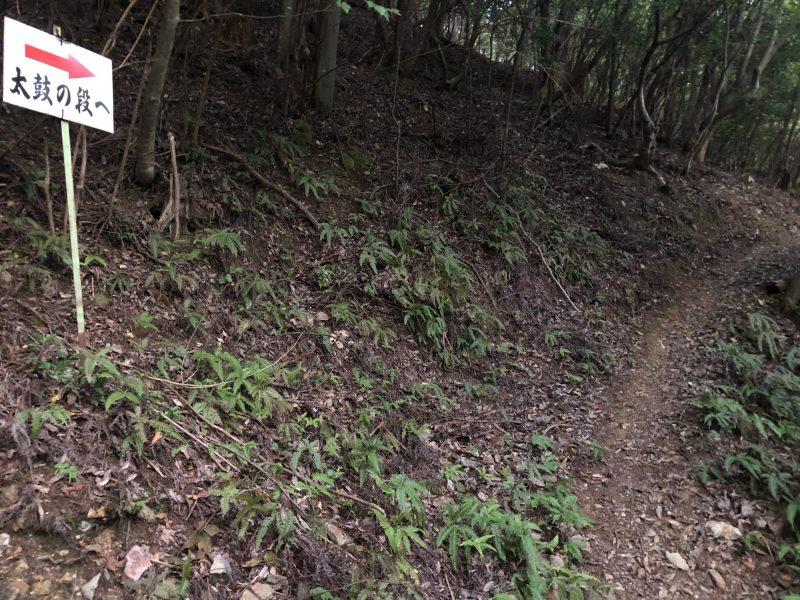 黒井城・太鼓の段への道
