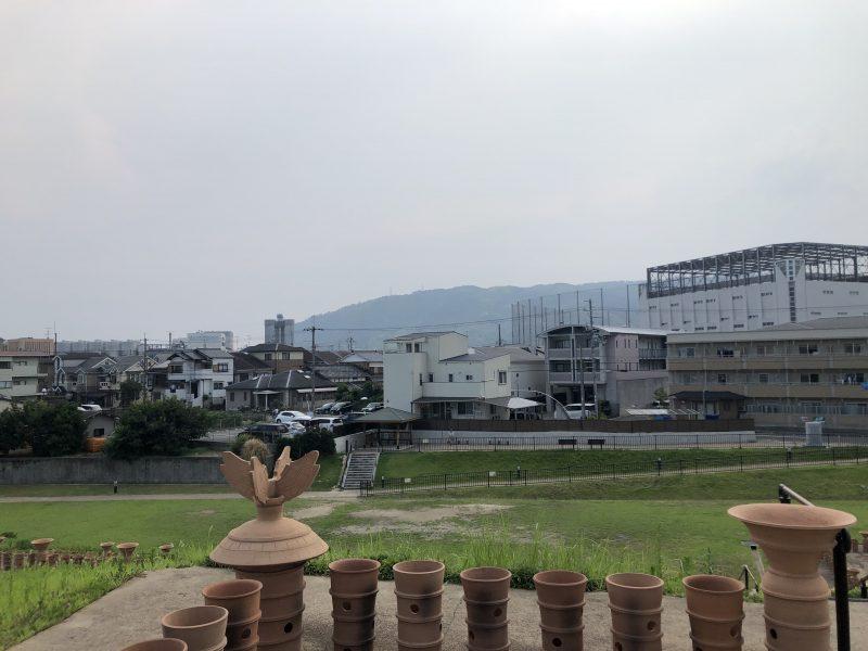 恵解山古墳から見る天王山