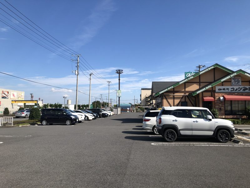コメダ珈琲カインズ伊勢崎店の駐車場