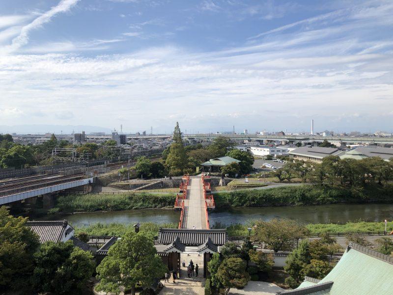 清洲城模擬天守からの景色