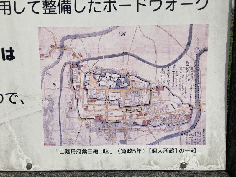 丹波亀山城図