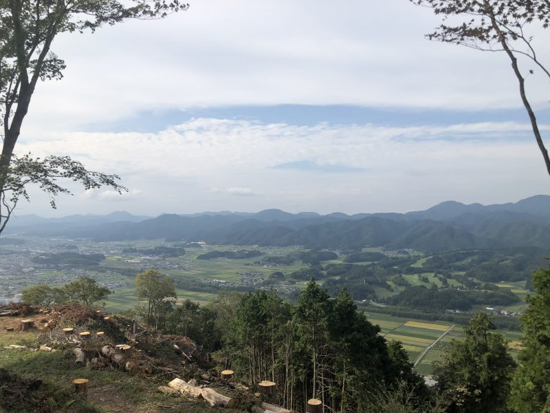 八上城・本丸からの景色