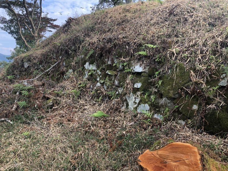 八上城・本丸の石垣