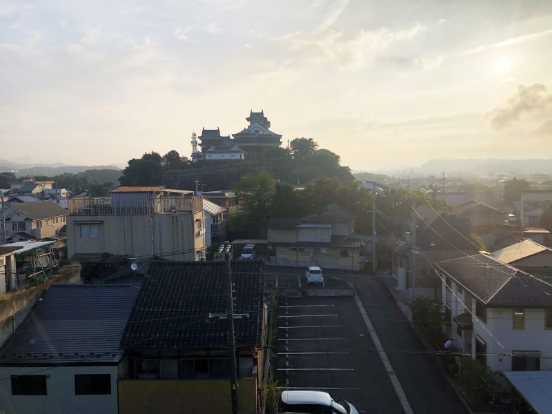 伯耆丸跡から見る福知山城天守