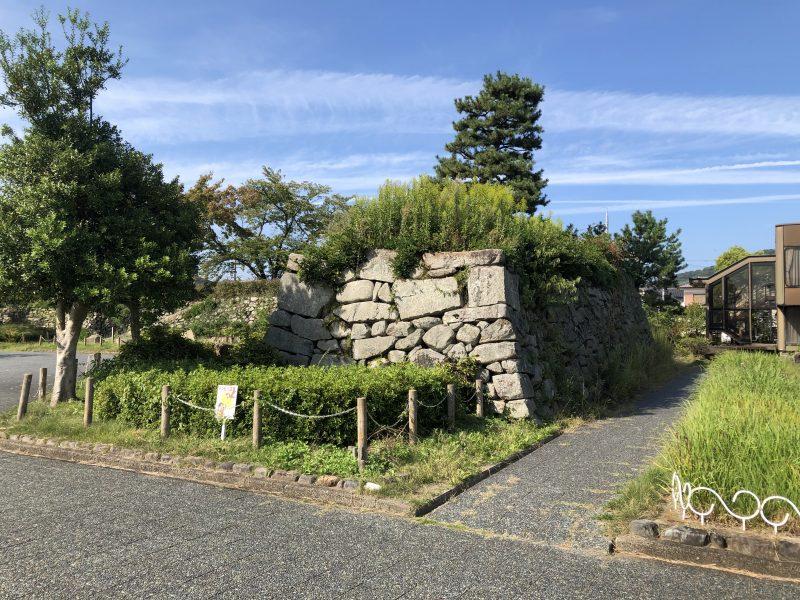 田辺城の本丸石垣