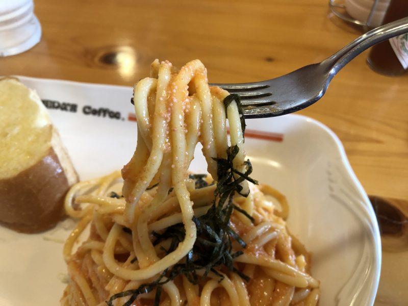 明太クリームたっぷりのスパゲッティ