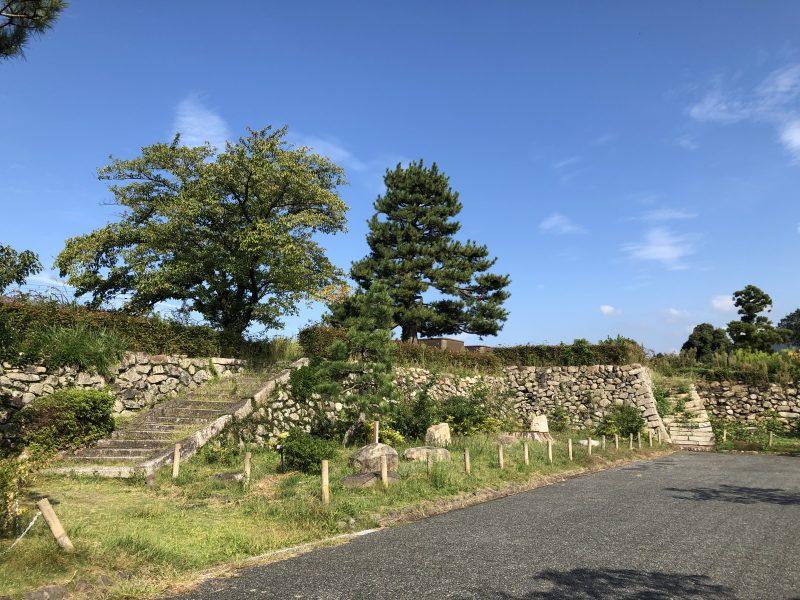 田辺城本丸の石垣